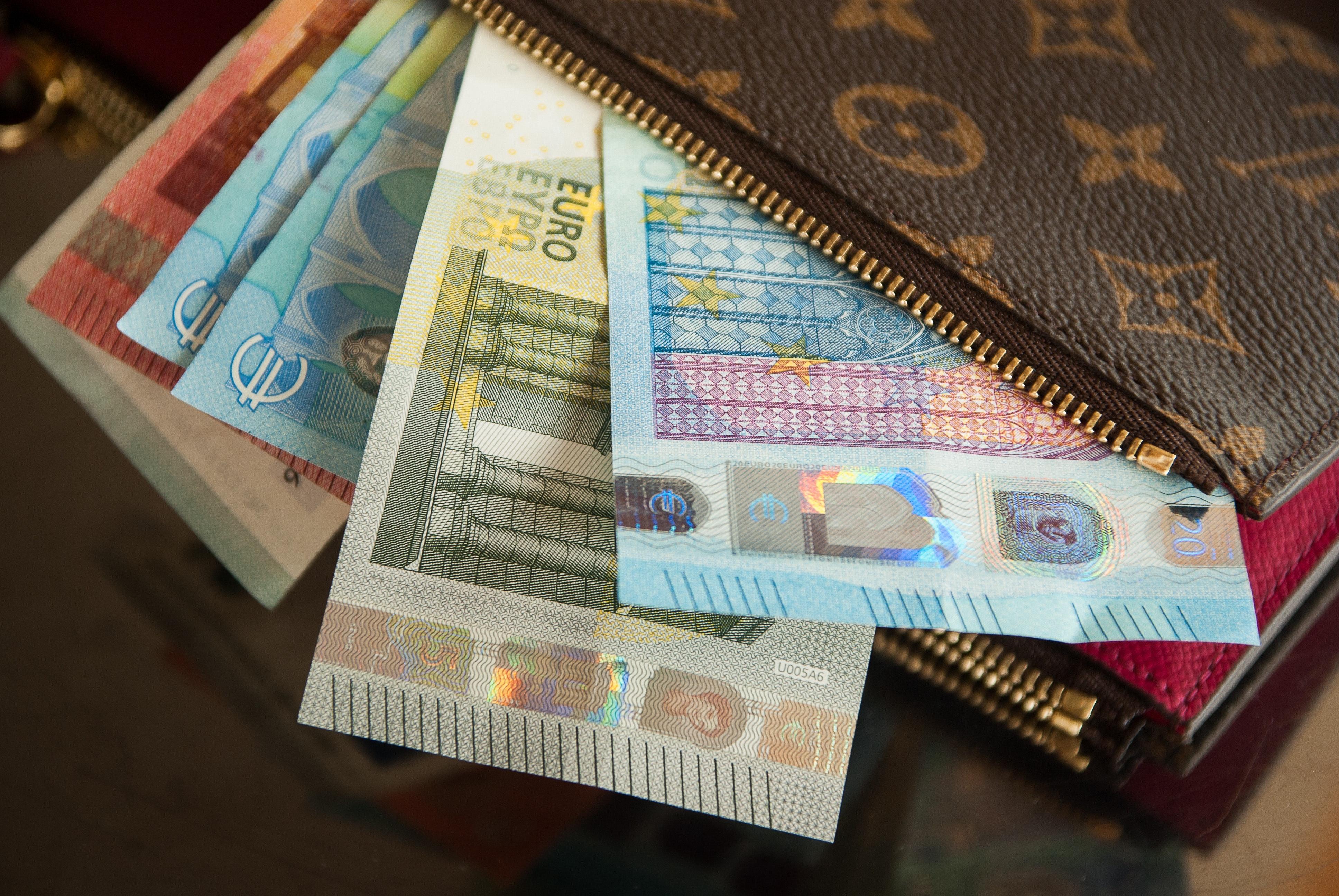 Euro i plånbok